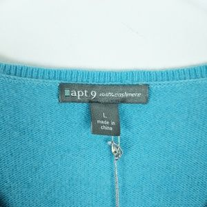 Apt. 9 Sweaters - NEW Apt. 9 Aqua Argyle Sky Blue V Neck Sweater L